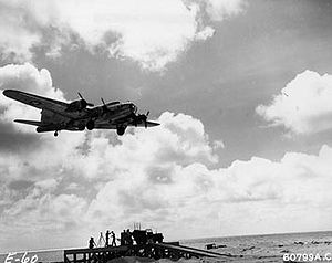 Converted Fighter BQ8/B-24 taking off during Operation Aphrodite